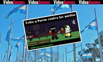 Evita y Peron contra los gorilas