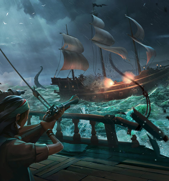 Night Battle at Sea - Sea of Thieves