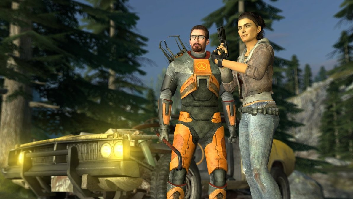 Gordon Freeman y Alyx Vance