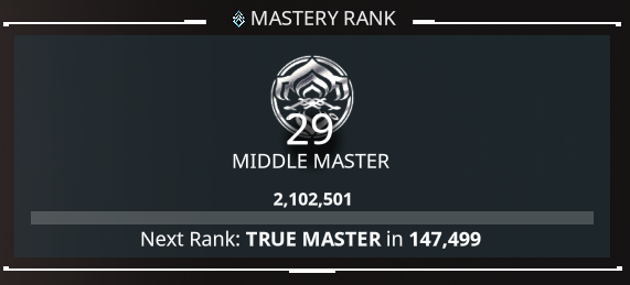 warframe mastery rank